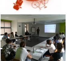 logo plan de mobilité+image réunion+carte entreprises du territoire